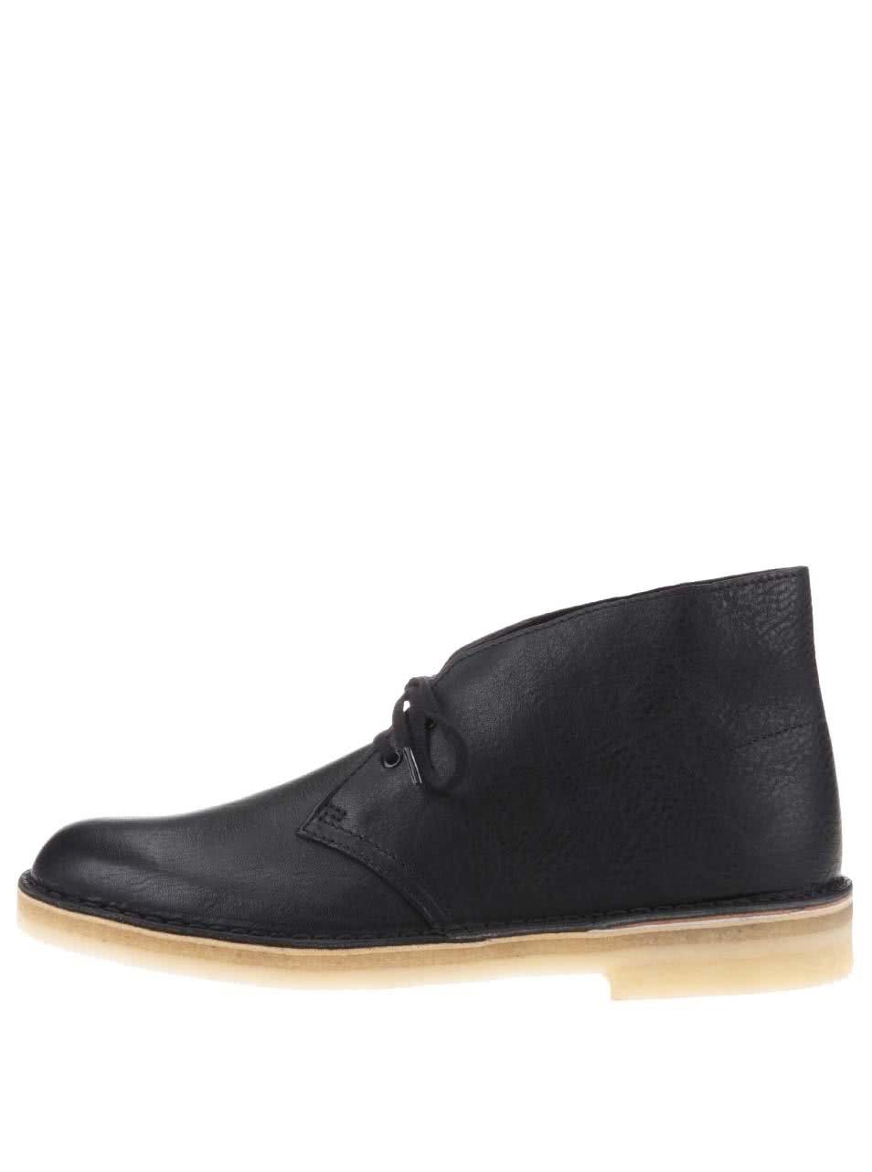 Černé pánské kožené kotníkové boty Clarks Desert Boot ... 9dbf84653a