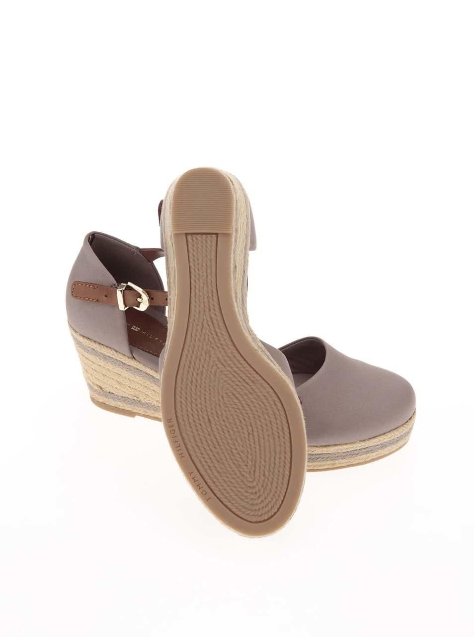 Šedé dámské sandály na klínku Tommy Hilfiger ... 96a8c71e2d0