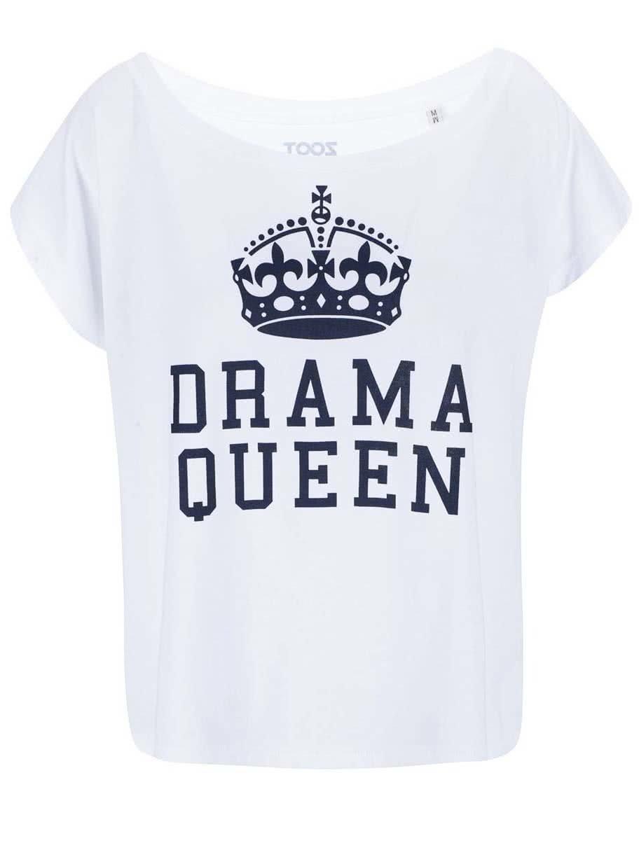 Bílé dámské tričko ZOOT Lokál Drama Queen ... fe9d455124