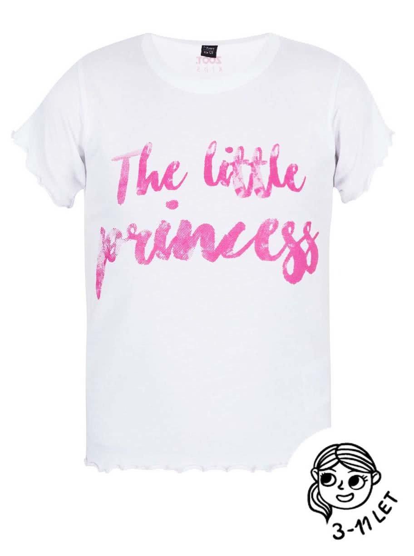 Bílé holčičí tričko ZOOT Kids The little princess ... ff7e5844fa