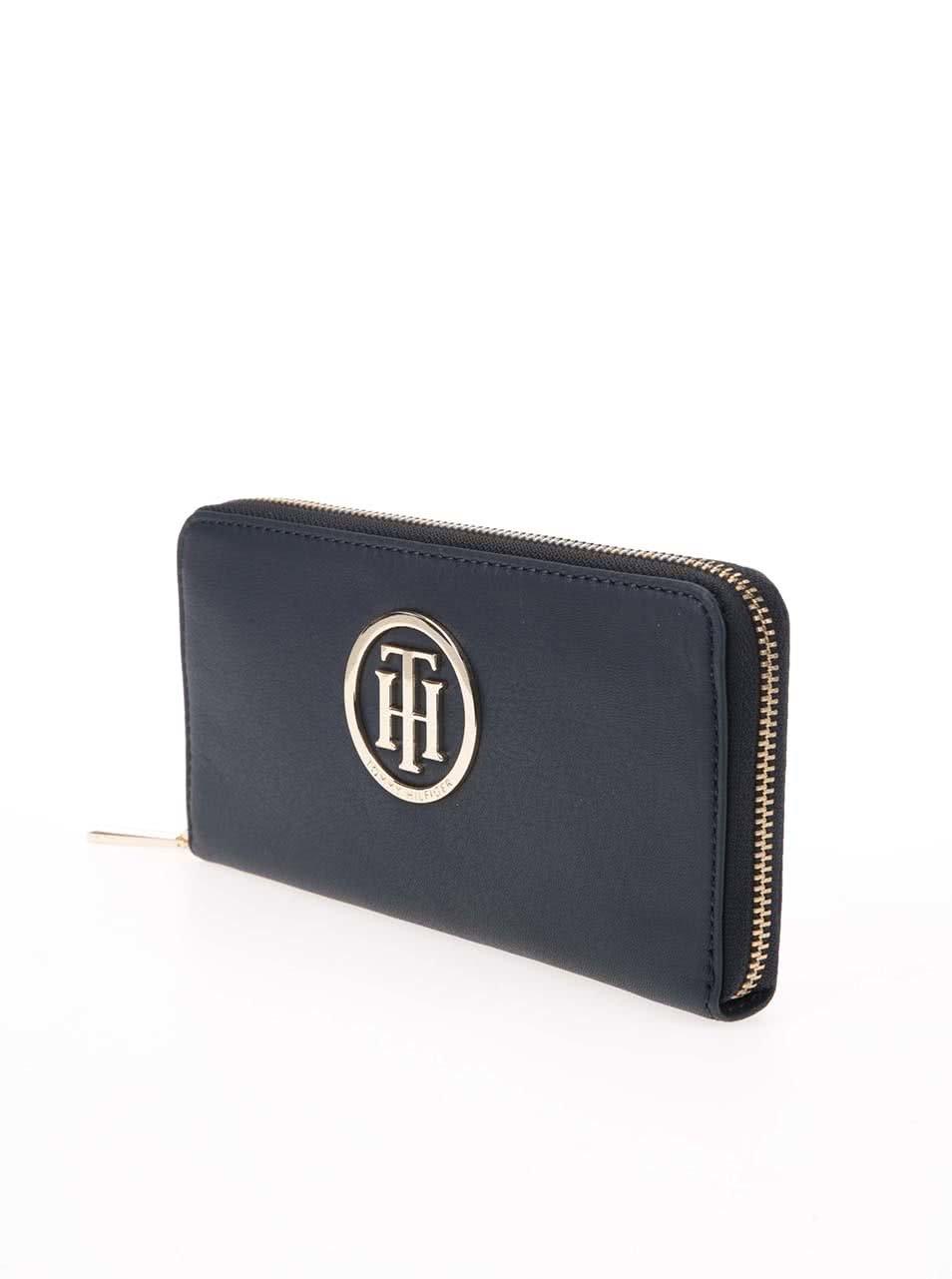 Modrá kožená peňaženka Tommy Hilfiger Classic Large ... 6ed02c77f1a