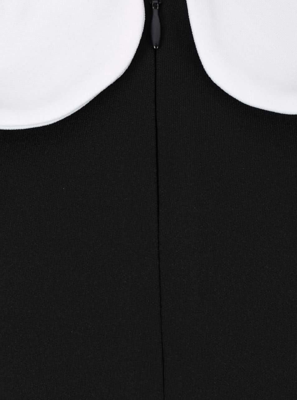 9af9e8316941 Čierne šaty s bielym golierikom Goddiva ...