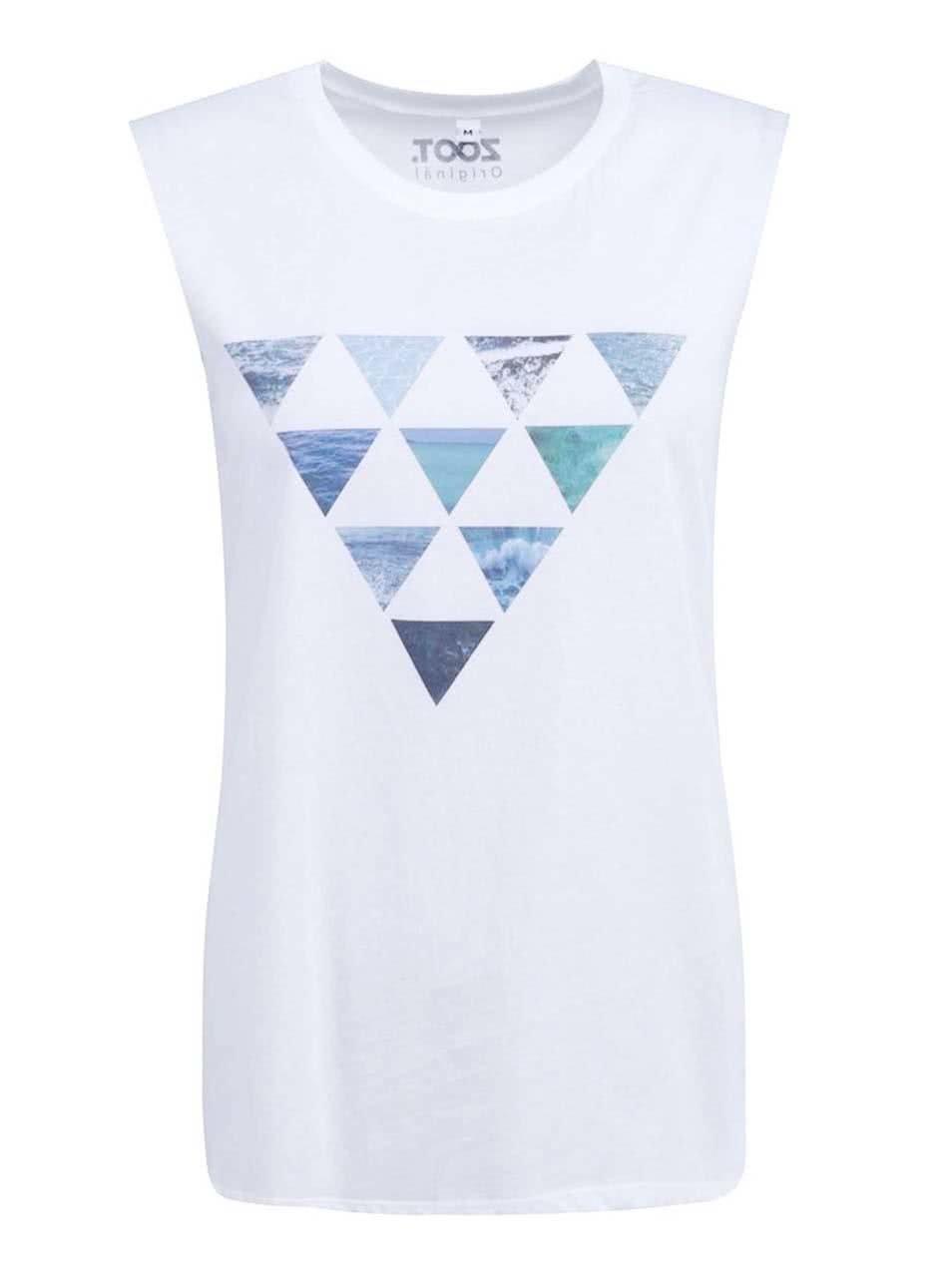 Bílé dámské tílko ZOOT Originál Trojúhelníky ... 5997d2c429