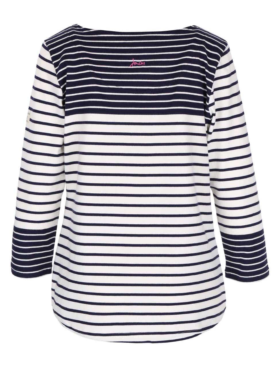 d775c0c7c5 Modro-biele dámske pruhované tričko s dlhým rukávom Tom Joule Harbour ...