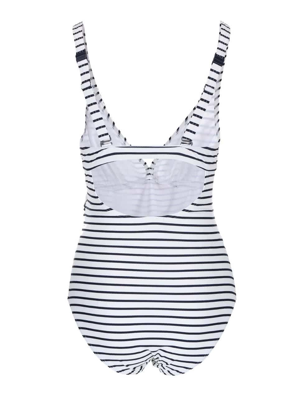 Bílé těhotenské pruhované plavky Mama.licious Josefine ... ddb61616f3