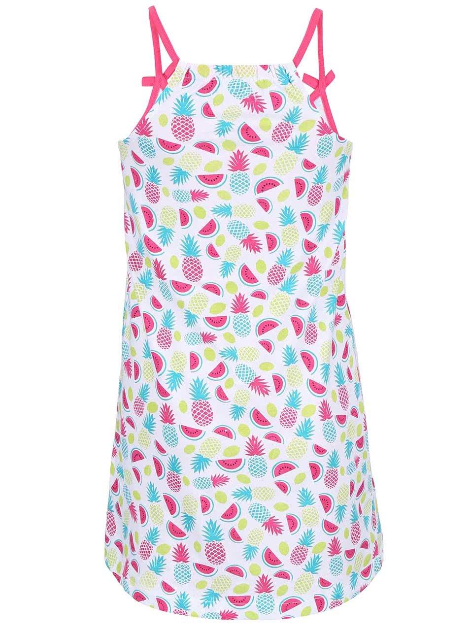 0fb0d24229e7 Biele dievčenské šaty s potlačou ovocia Blue Seven ...
