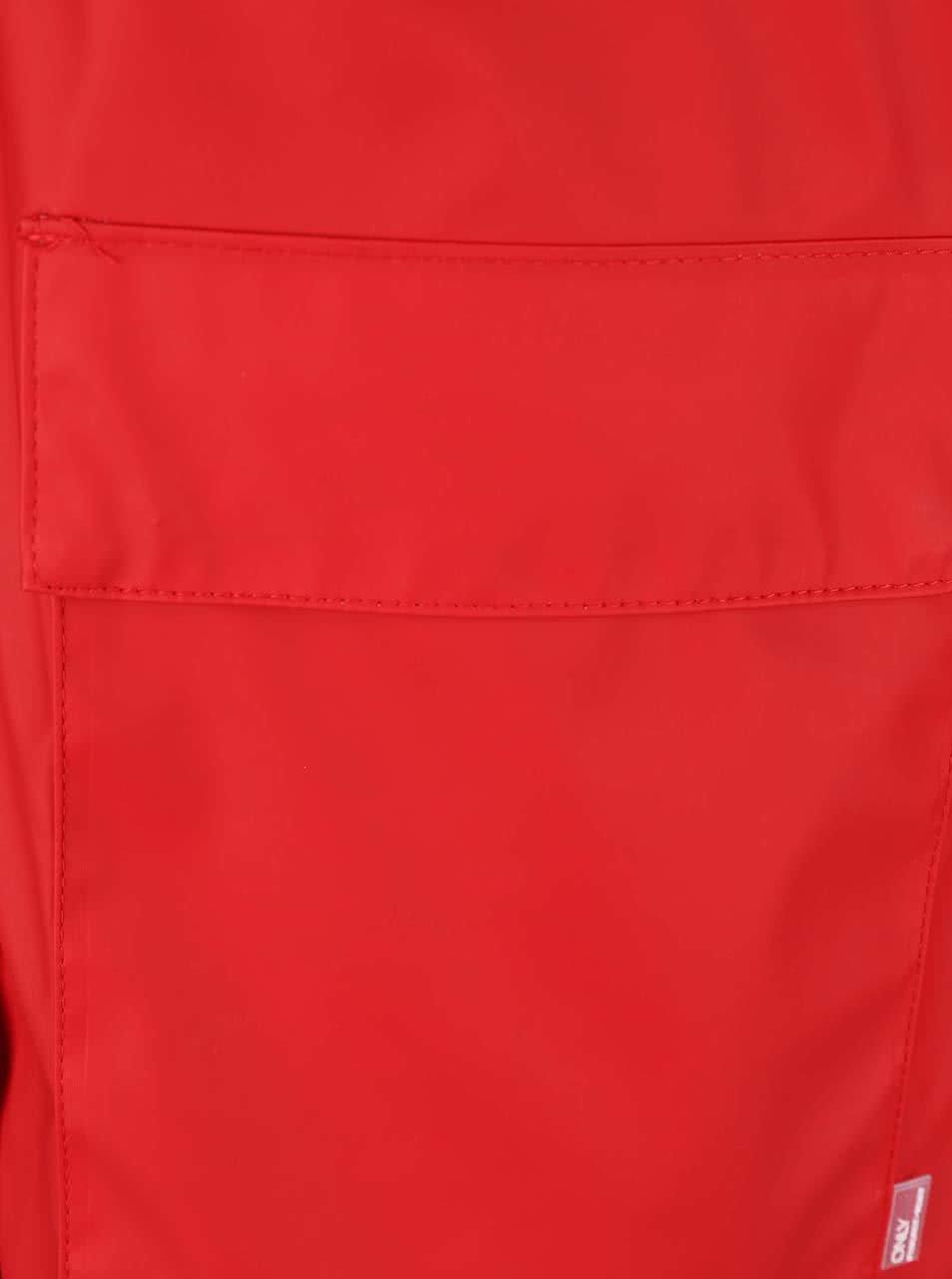 f073be3bf1 Červená nepremokavá bunda ONLY Train ...