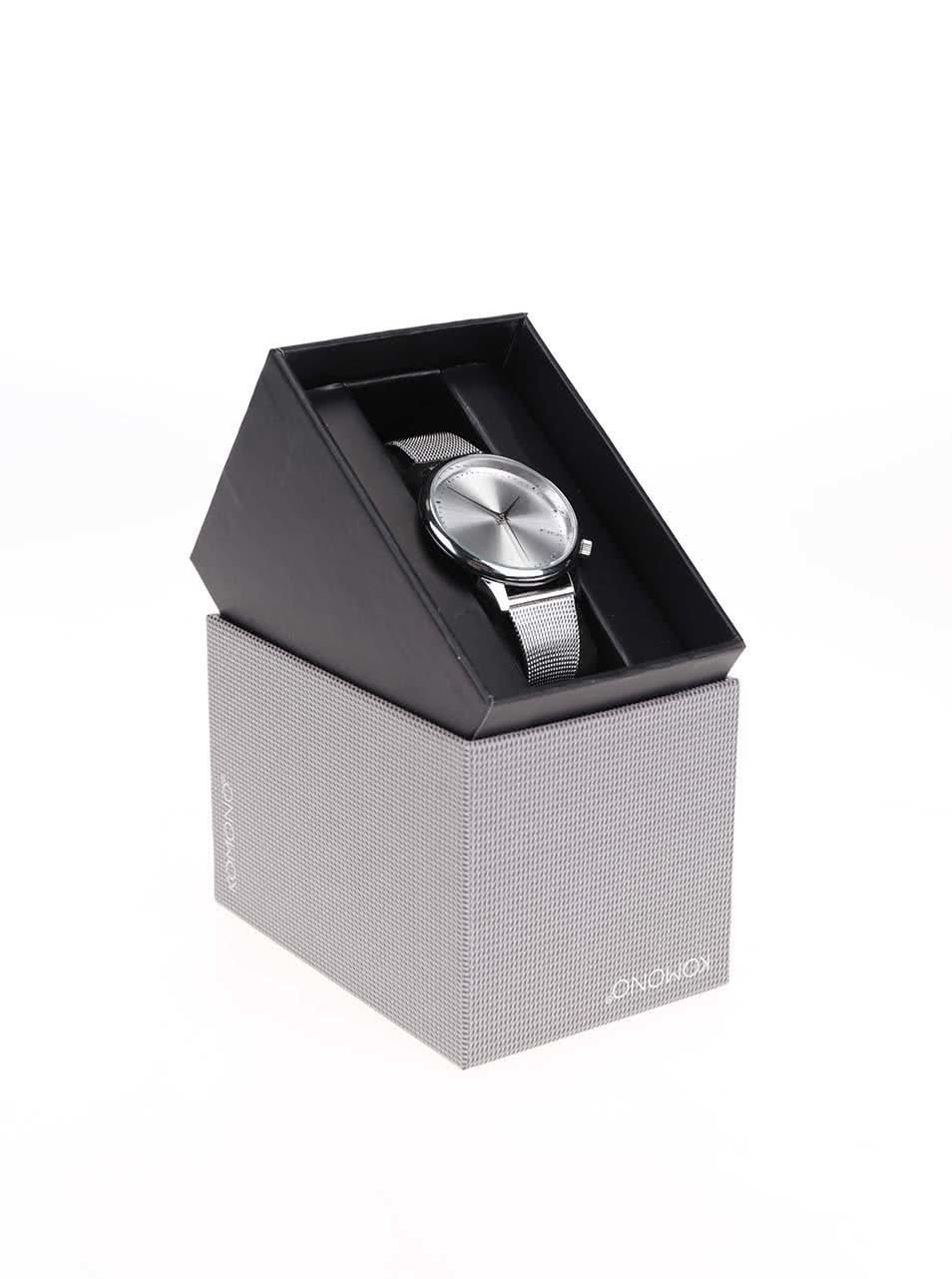 Dámské hodinky ve stříbrné barvě s kovovým páskem Komono Estelle Royale ... afdd099fa8