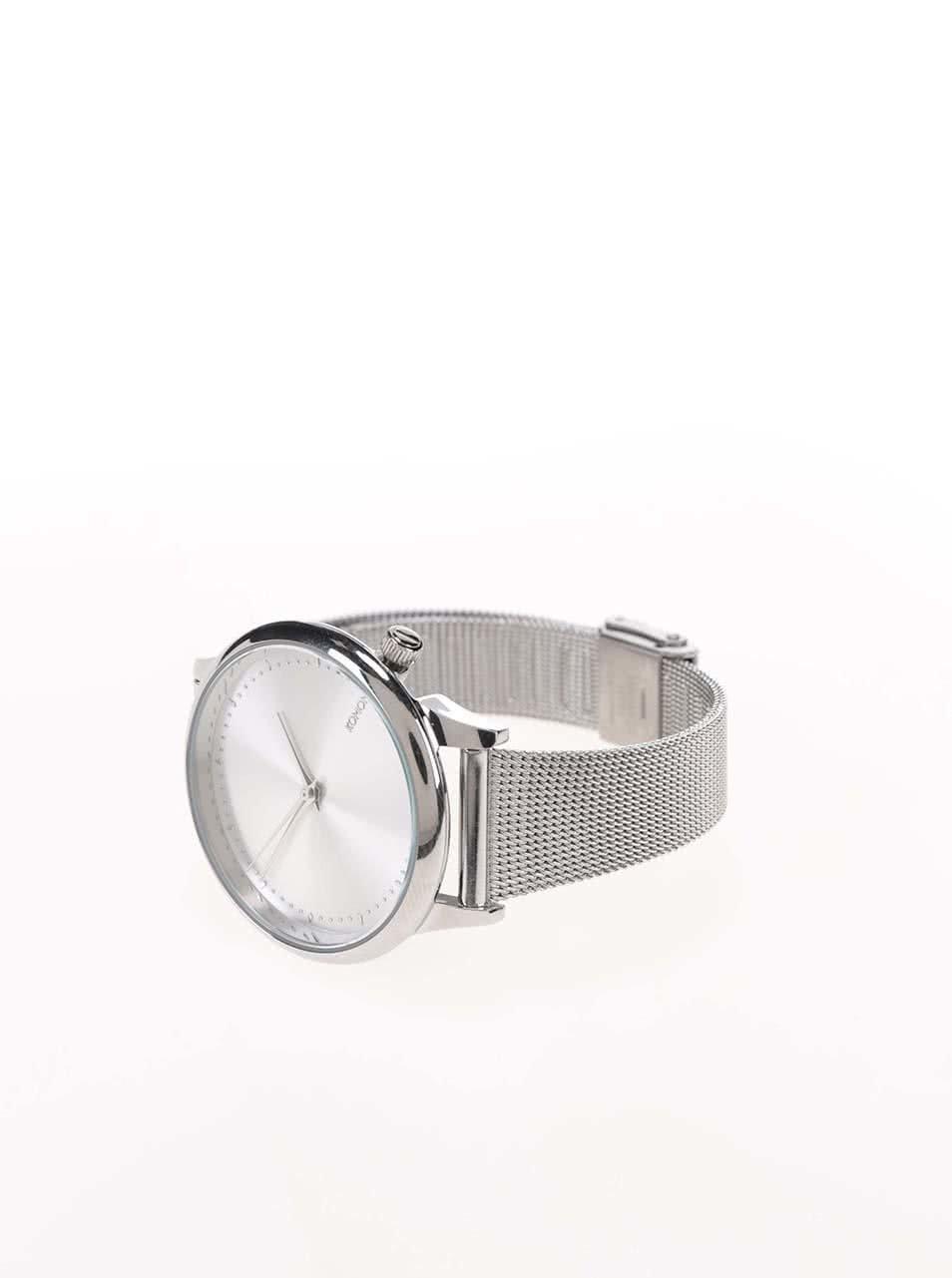 aefffa89c0e Dámské hodinky ve stříbrné barvě s kovovým páskem Komono Estelle Royale ...