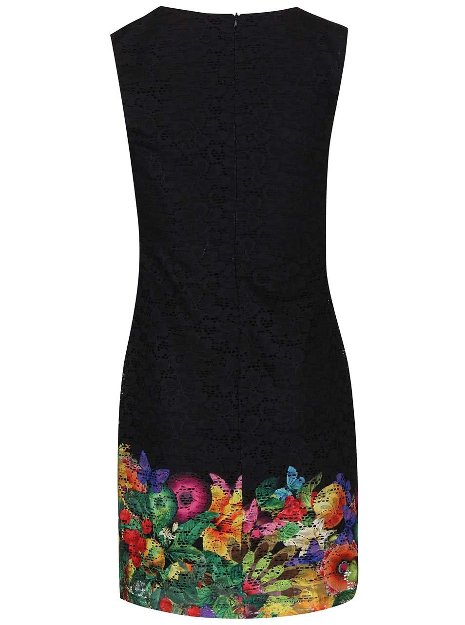 4cc738be9761 Černé šaty s motýly Desigual Guido ...