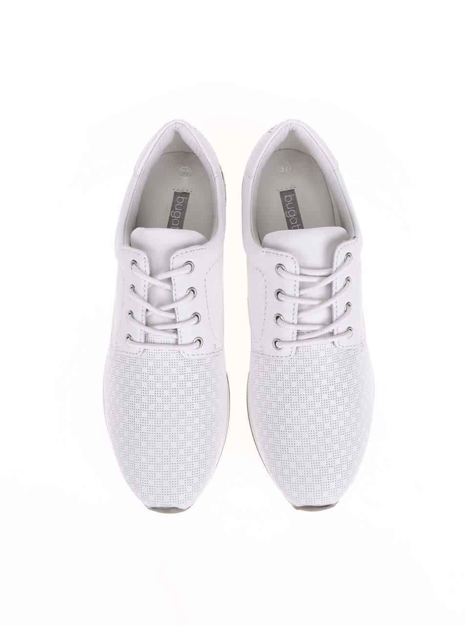 c9f260f34960 Biele dámske kožené tenisky bugatti ...
