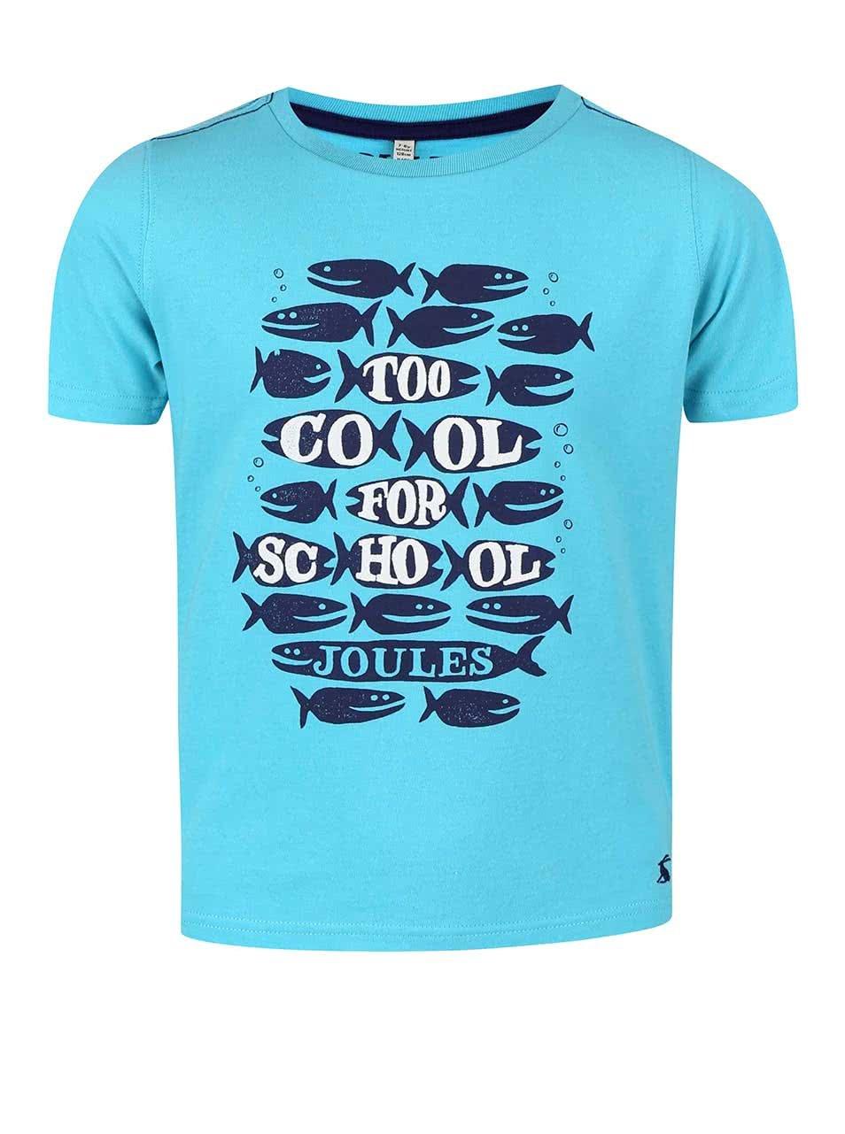 b84da2a5878 Modré chlapčenské tričko s potlačou rybičiek Tom Joule ...