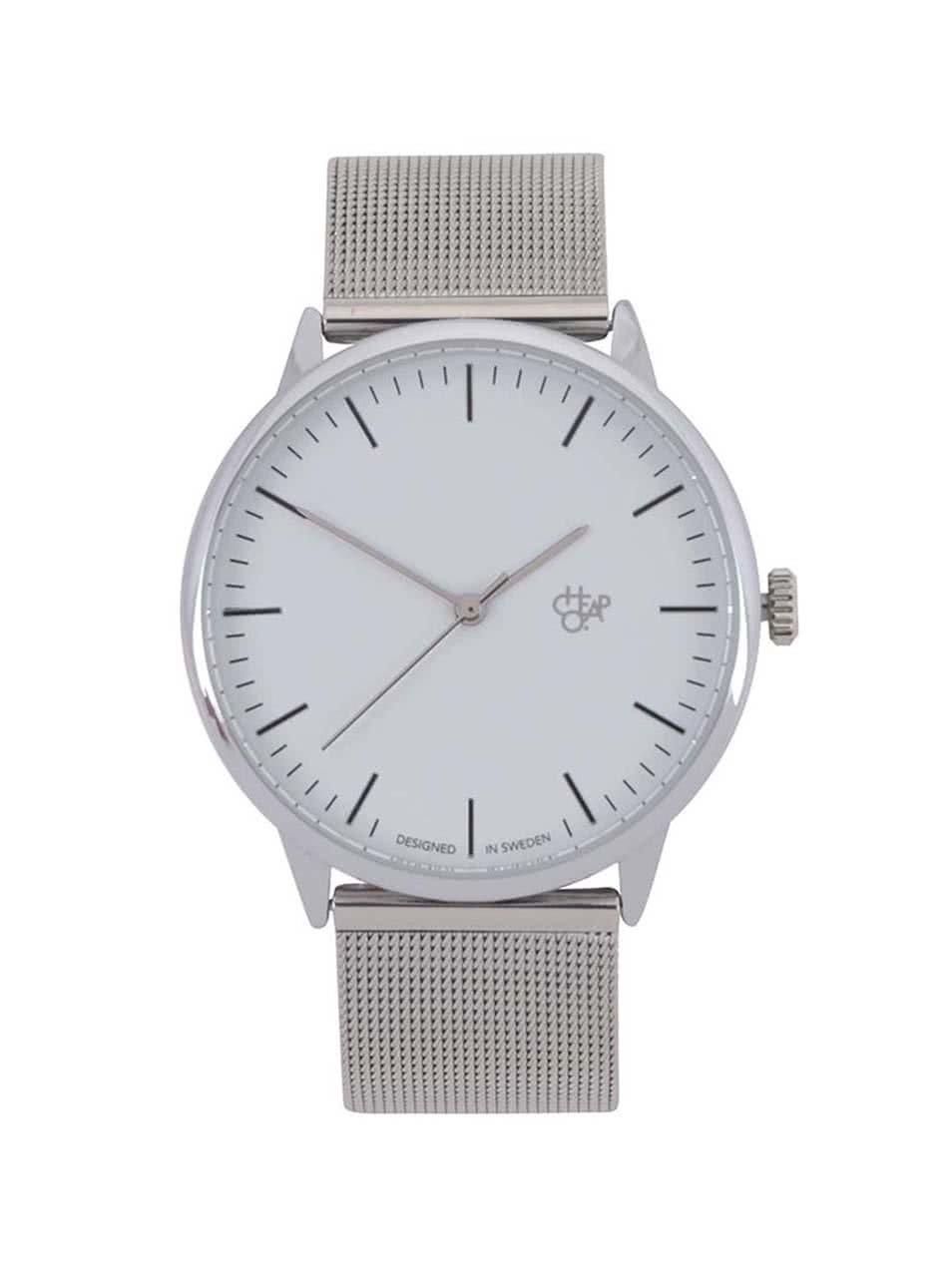 Unisex hodinky ve stříbrné barvě CHPO Nando Silver