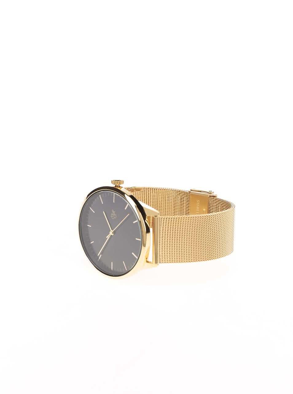 ... Unisex hodinky ve zlaté barvě s nerezovým páskem CHPO Nando Gold ... 22cd97e281