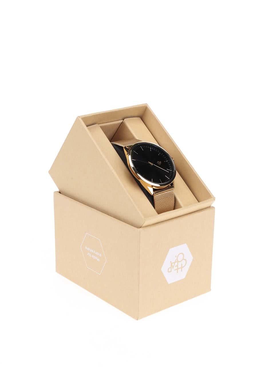 Unisex hodinky ve zlaté barvě s nerezovým páskem CHPO Nando Gold ... b1e7409eaec