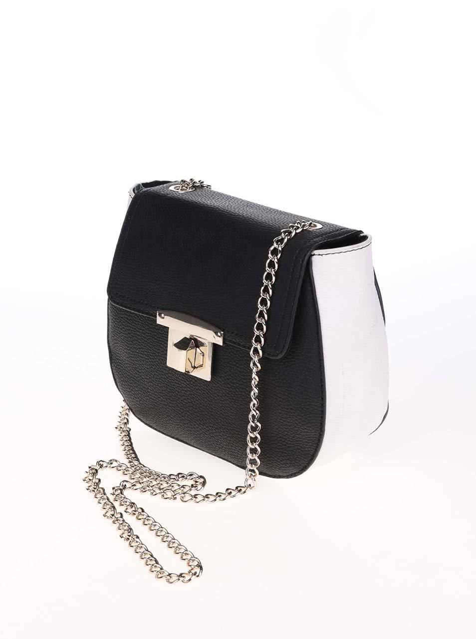 b47cf5572516 Čierno-biela malá crossbody kabelka Dorothy Perkins ...