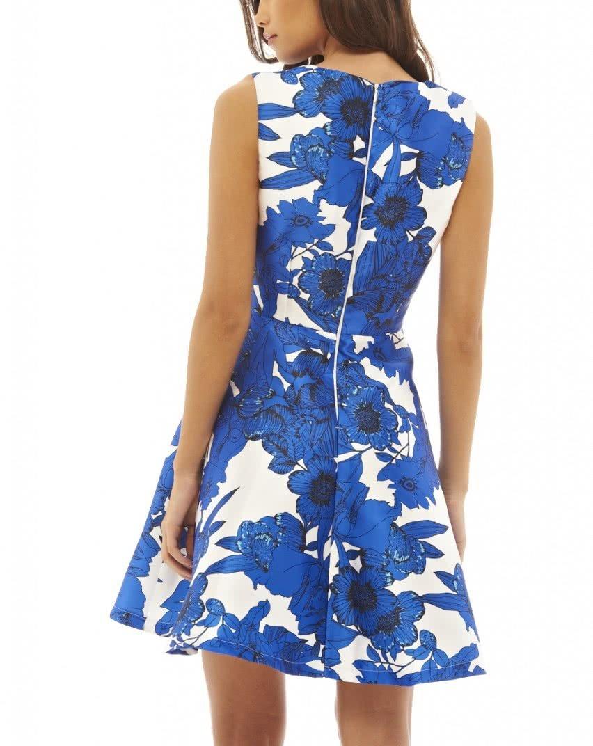 Bielo-modré kvetované šaty AX Paris ... 59d4c8b5515