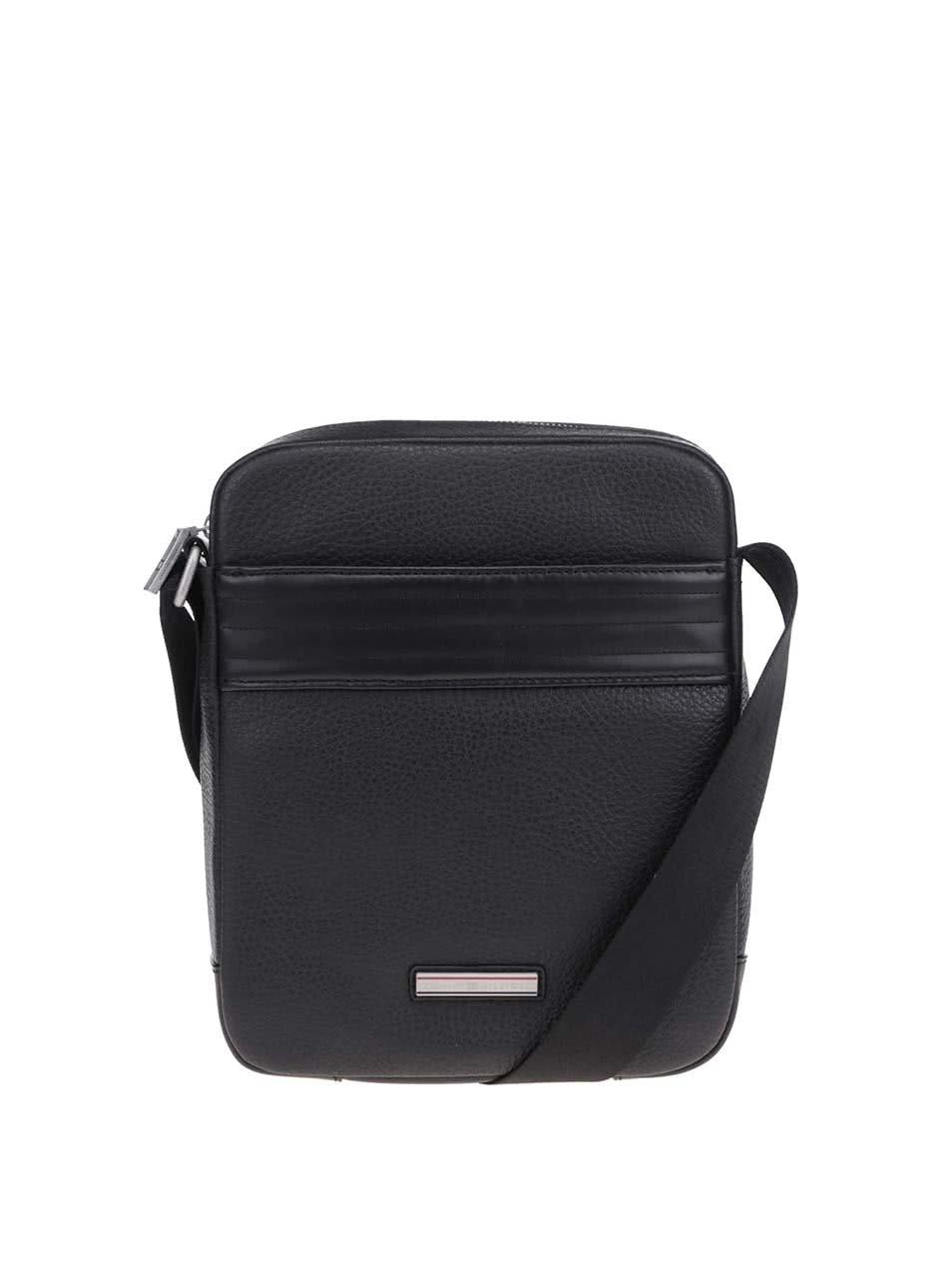 5d235fc04e Čierna pánska kožená taška cez rameno Tommy Hilfiger Business ...
