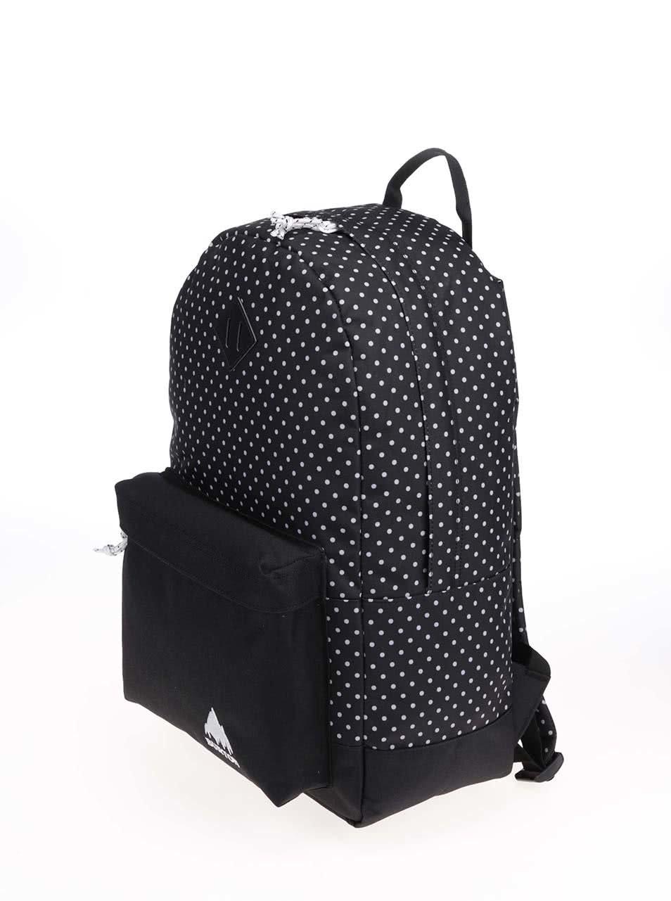 Černý batoh s bílými puntíky Burton Kettle ... 47632517a8
