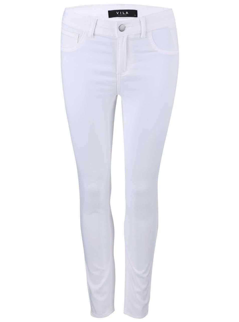 Bílé úzké kalhoty VILA Commit ... e265cec8d9