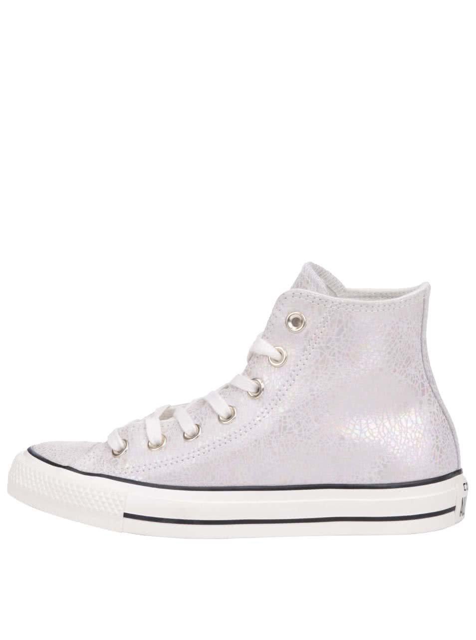 Krémovo-strieborné dámske kožené tenisky Converse Chuck Taylor All Star ... dd6b28d106a