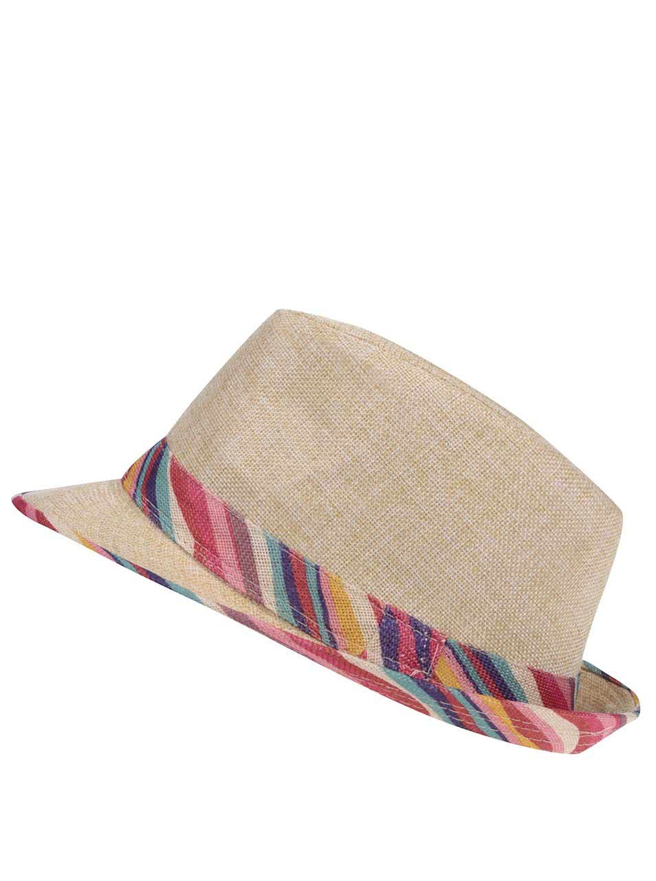 11b8e7e74 Slamený klobúk s farebnými detailmi INVUU London | ZOOT.sk