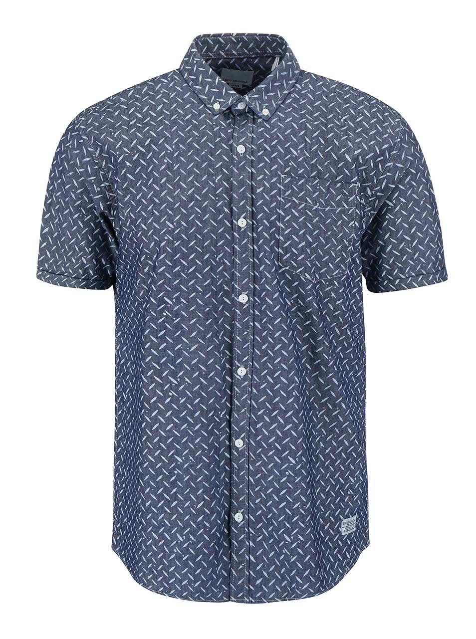 Modrá vzorovaná košile Shine Original Gibson Out ... 721f5ac3a4