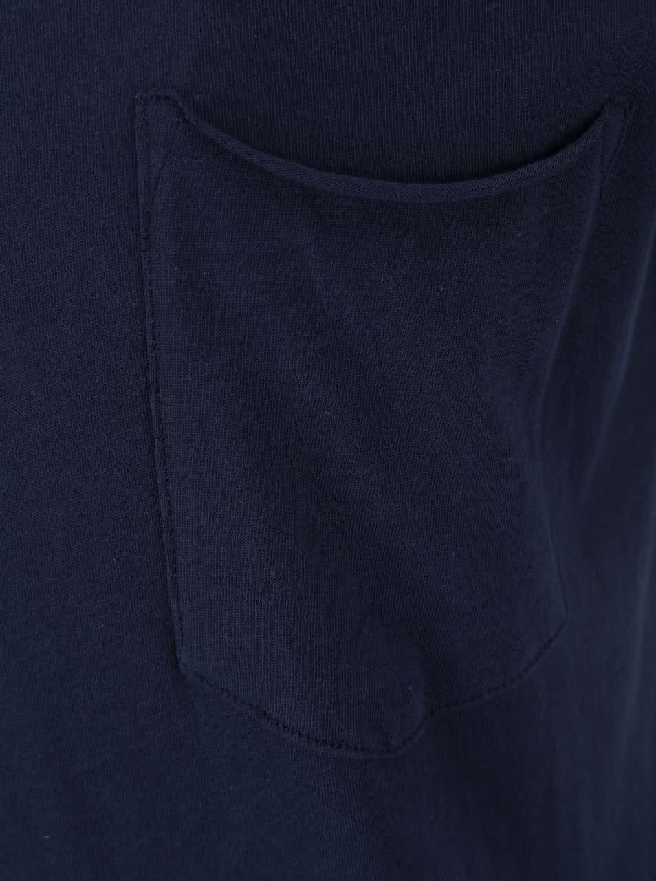 0e98a851ee9c Tmavomodré tričko s krátkym rukávom Shine Original Andy ...