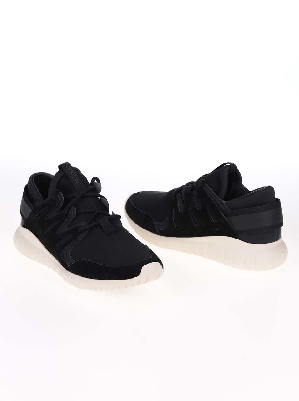 Krémovo-čierne pánske tenisky adidas Originals Tubular Nova ... b3784f08161
