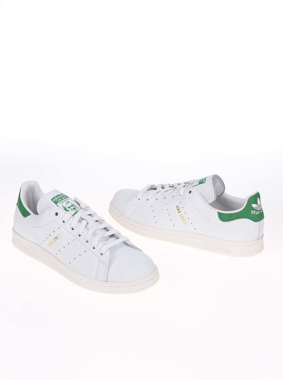 Zeleno-biele pánske kožené tenisky adidas Originals Stan Smith ... ff1a596ec7