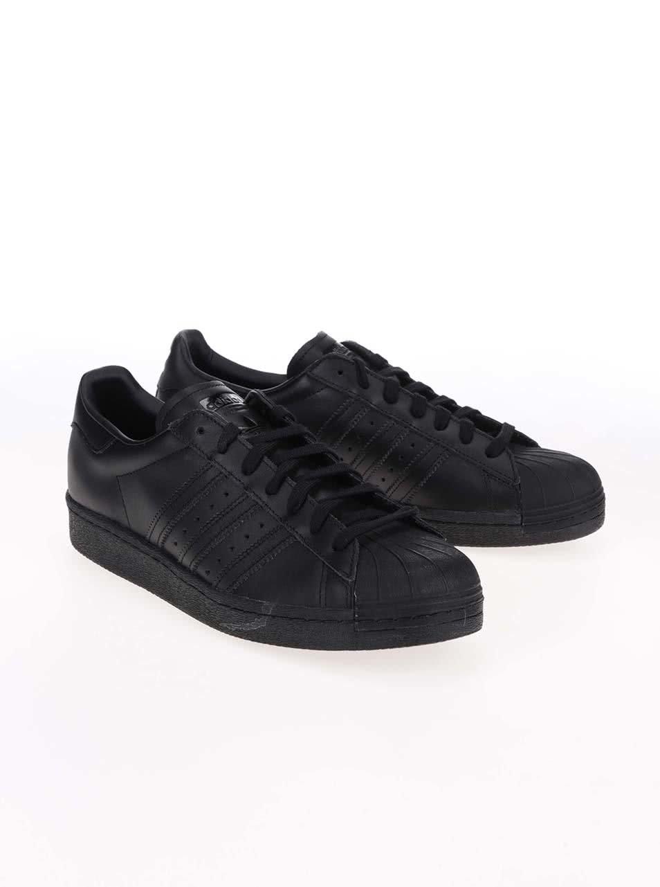Čierne pánske kožené tenisky adidas Originals Superstar  80s ... 779326a7a5f