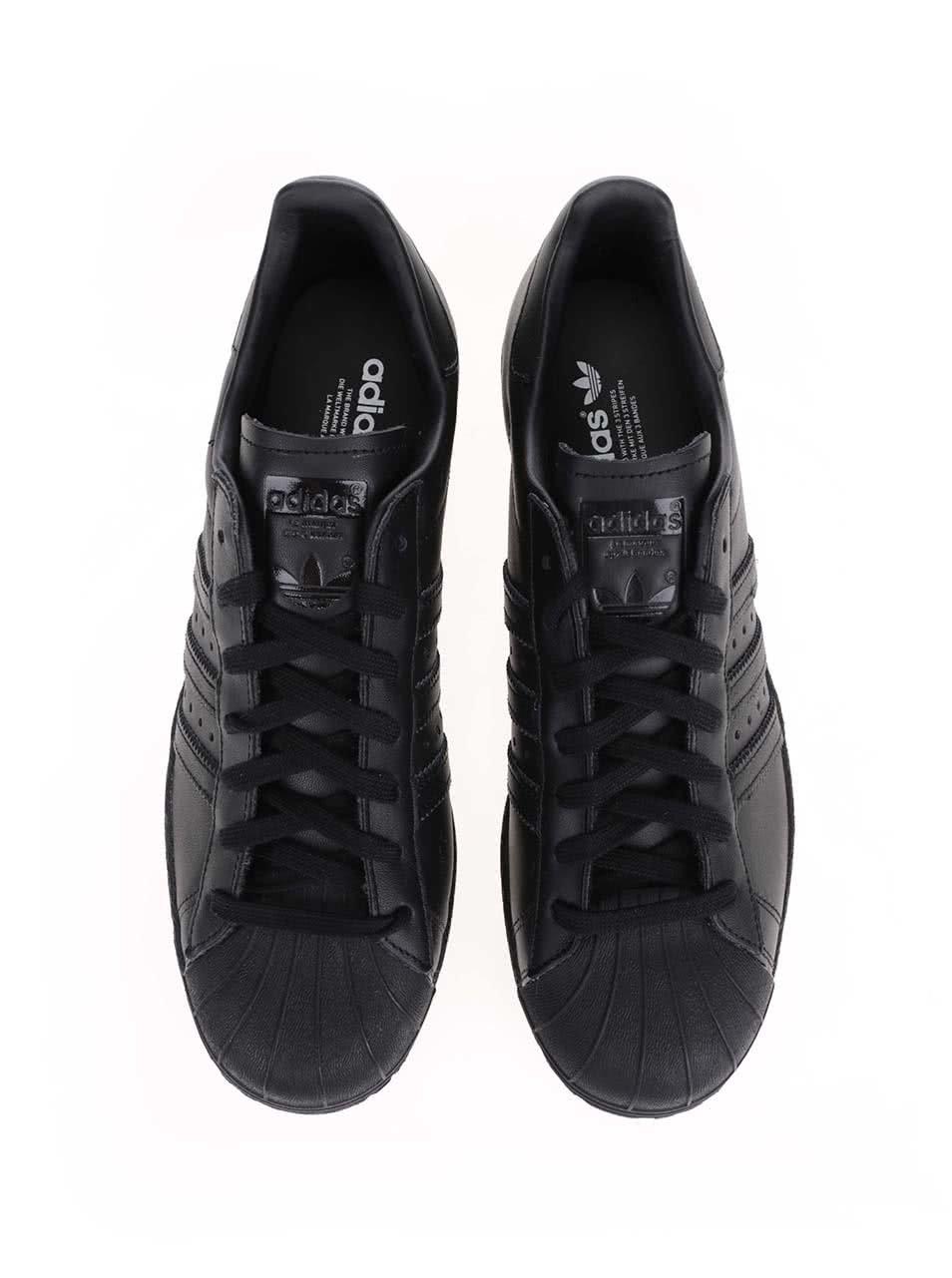 Černé pánské kožené tenisky adidas Originals Superstar  80s ... ab8f8e6e1e