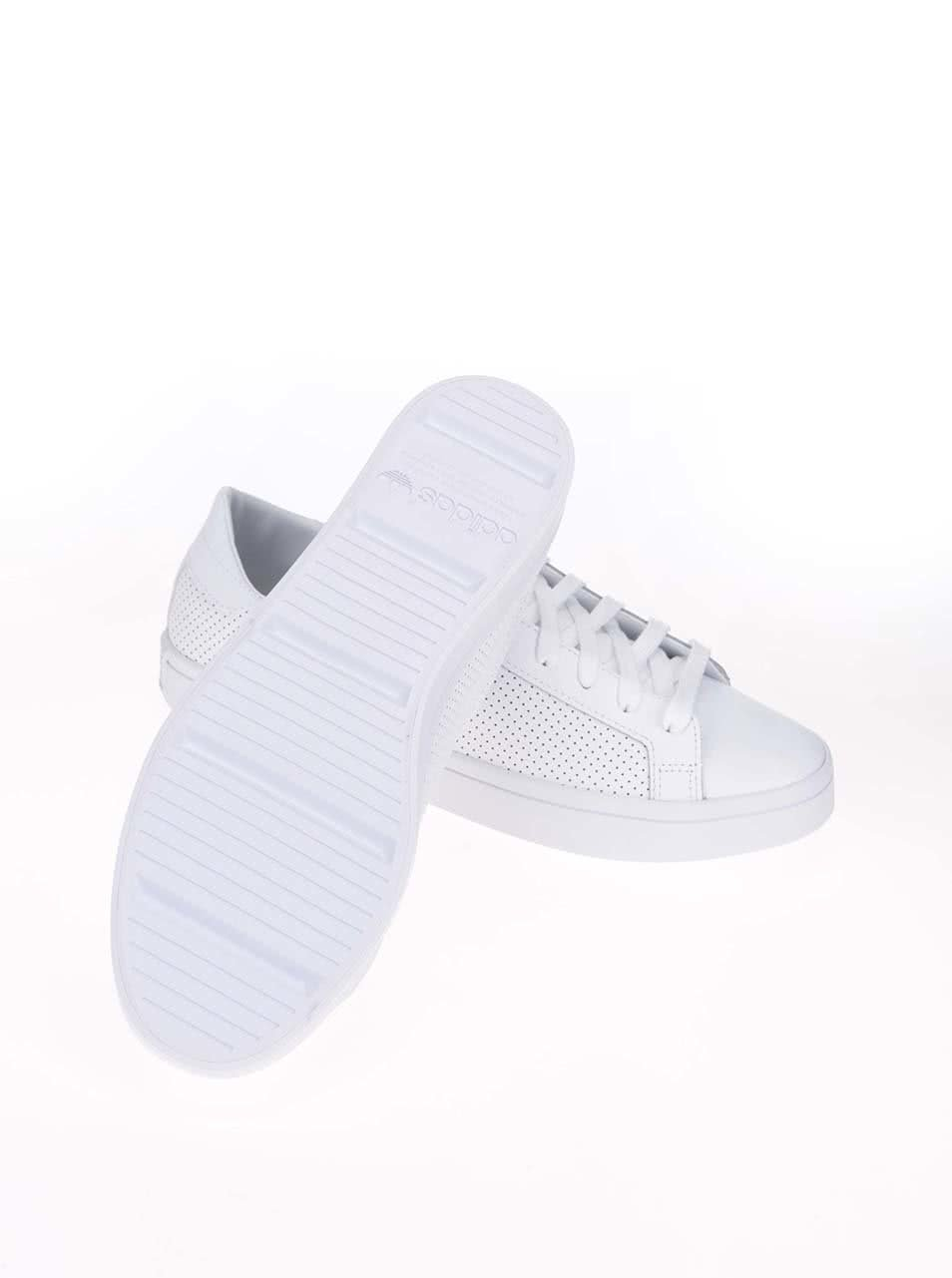 Biele pánske kožené tenisky adidas Originals Court Vantage ... f430061ecbe