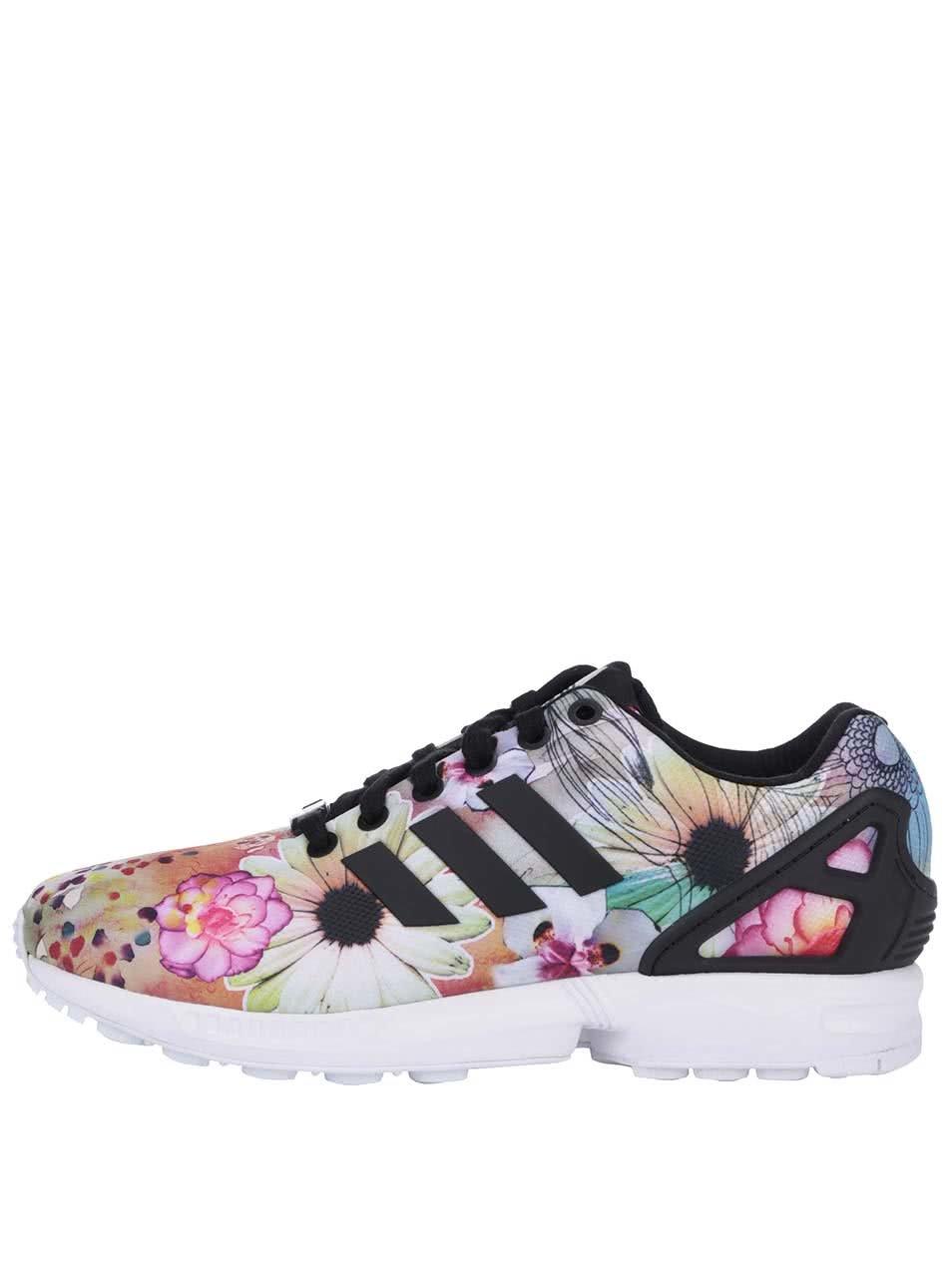 Barevné dámské květované tenisky adidas Originals ZX Flux W ... 9ab13daa699