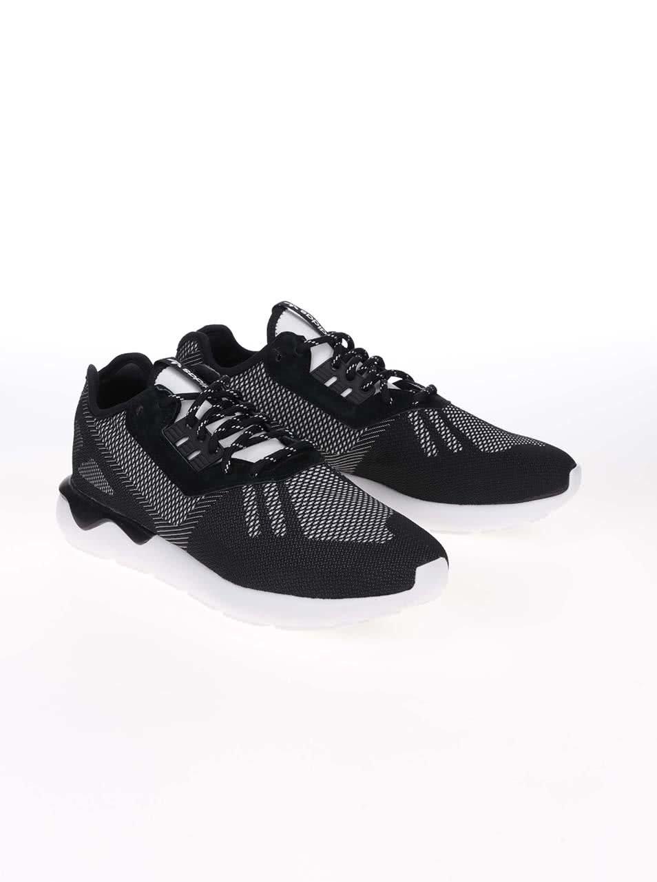 Bielo-čierne pánske tenisky adidas Originals Tubular Runner Weave ... 91618cb18b7