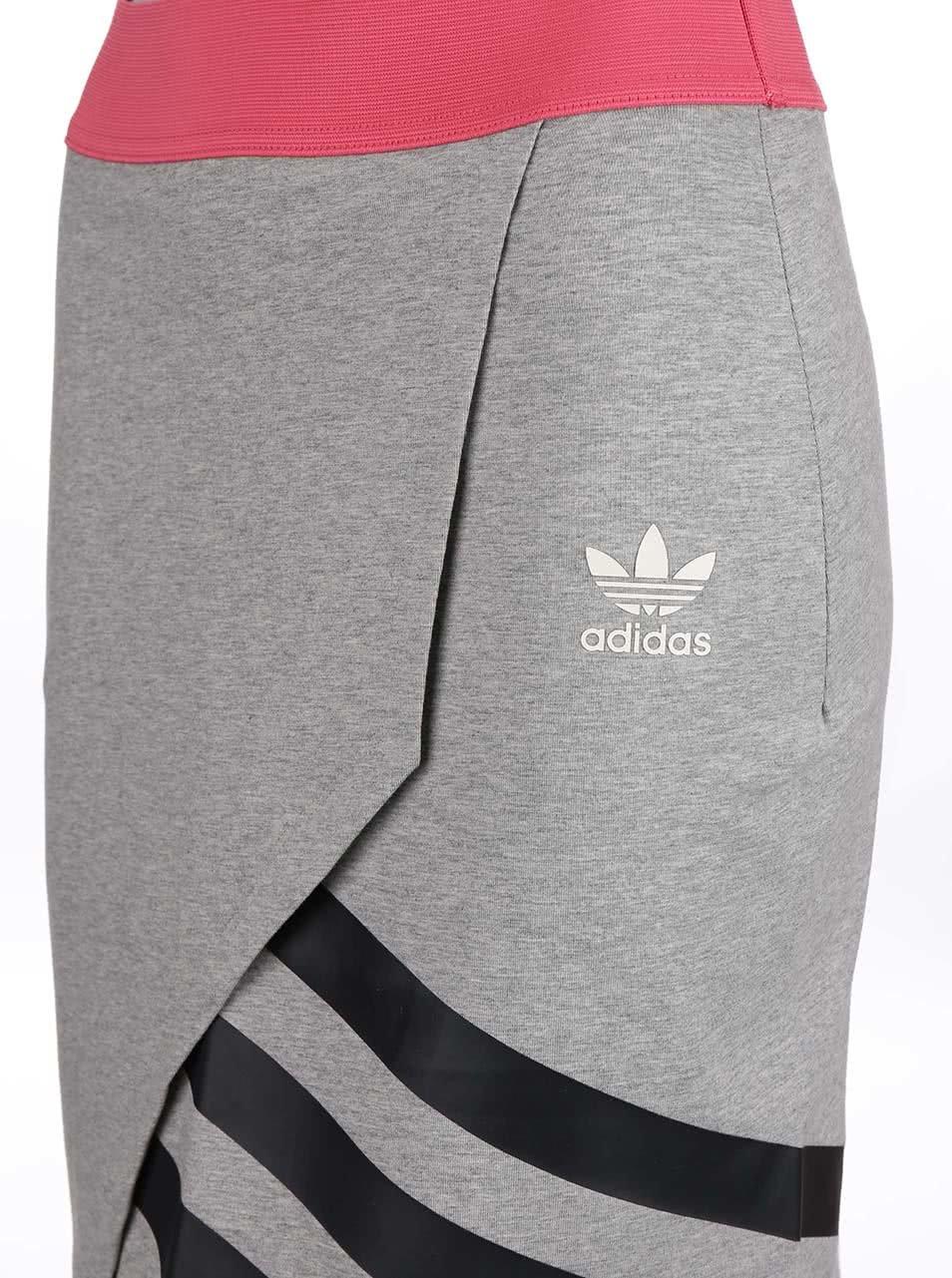 Růžovo-šedá sportovní sukně adidas Originals ... 3e51921a2b