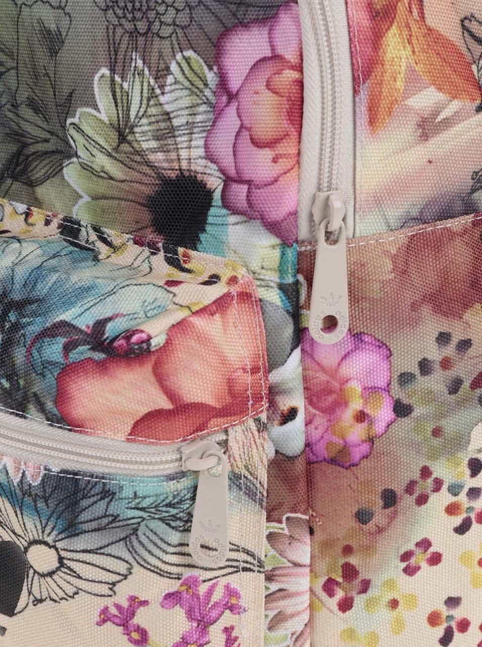f853b9f3a7 Barevný dámský květovaný batoh adidas Originals Classic Confete ...