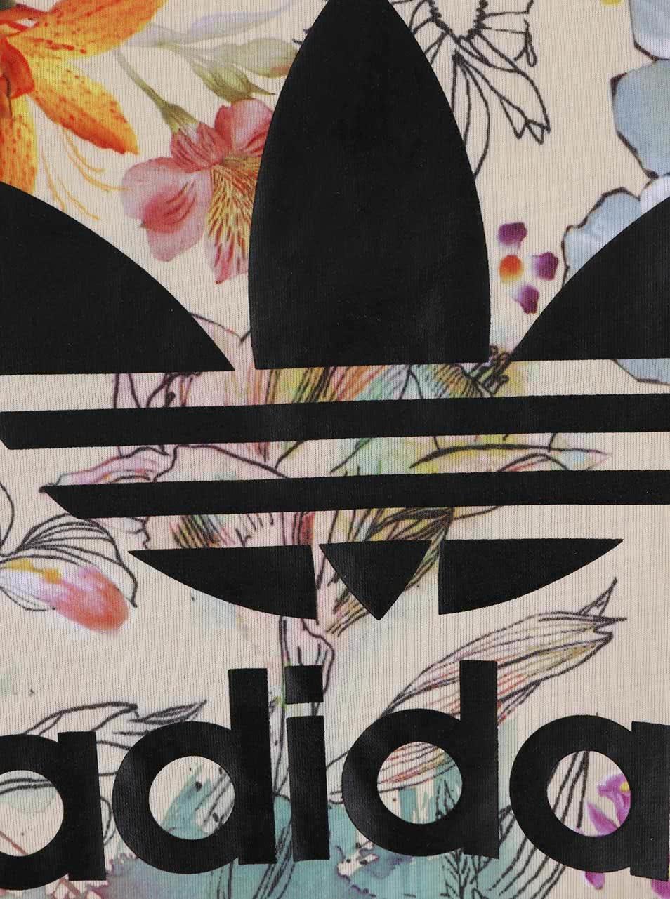 Barevné dámské květované tričko adidas Originals ... fea3ccc804a