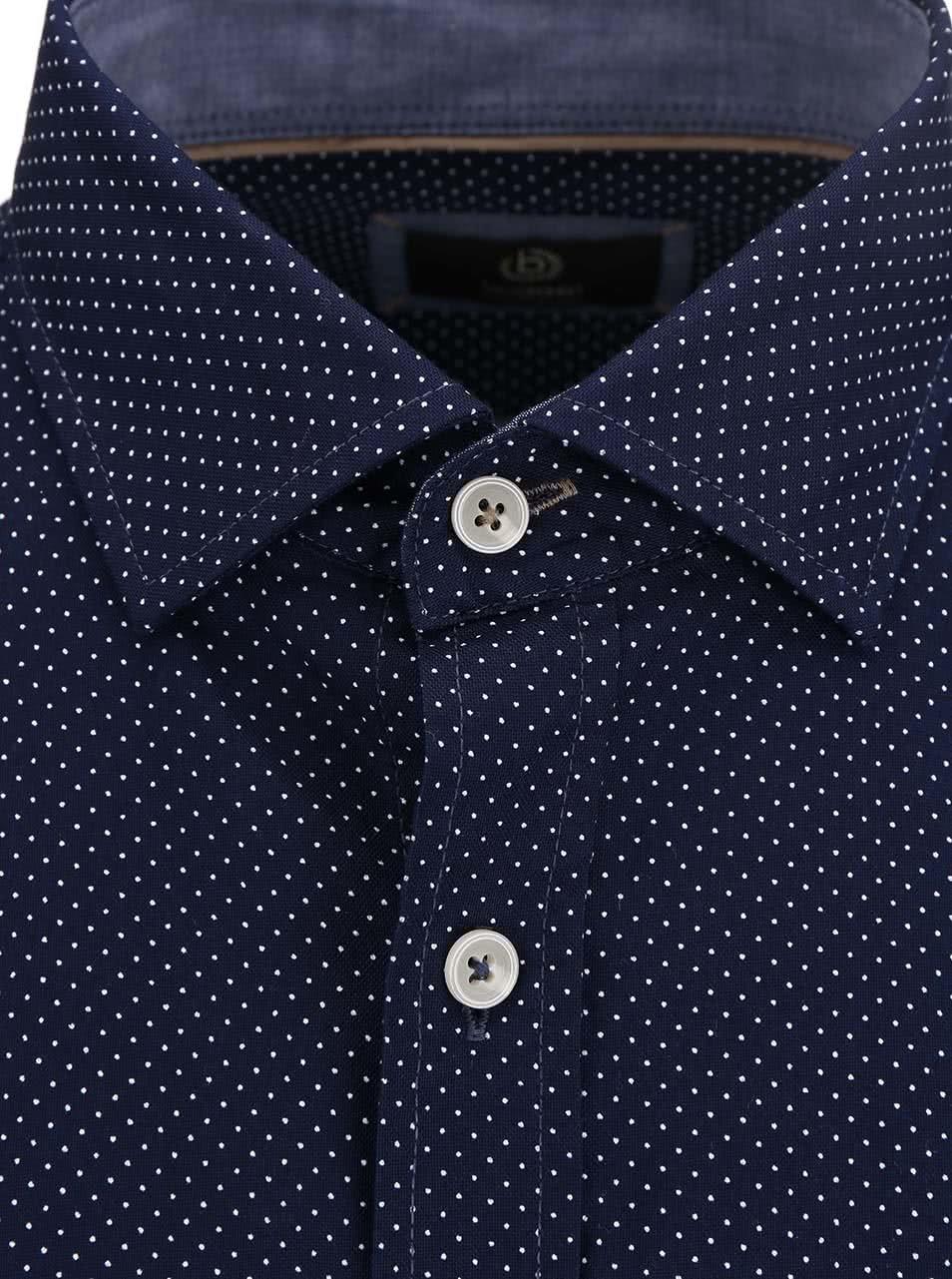 da15224a7573 Modrá pánska bodkovaná košeľa bugatti ...