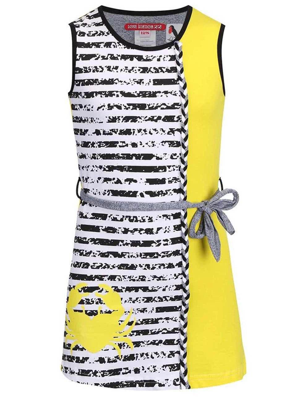 57512e34449 Bílo-žluté pruhované šaty LoveStation22 Christina ...