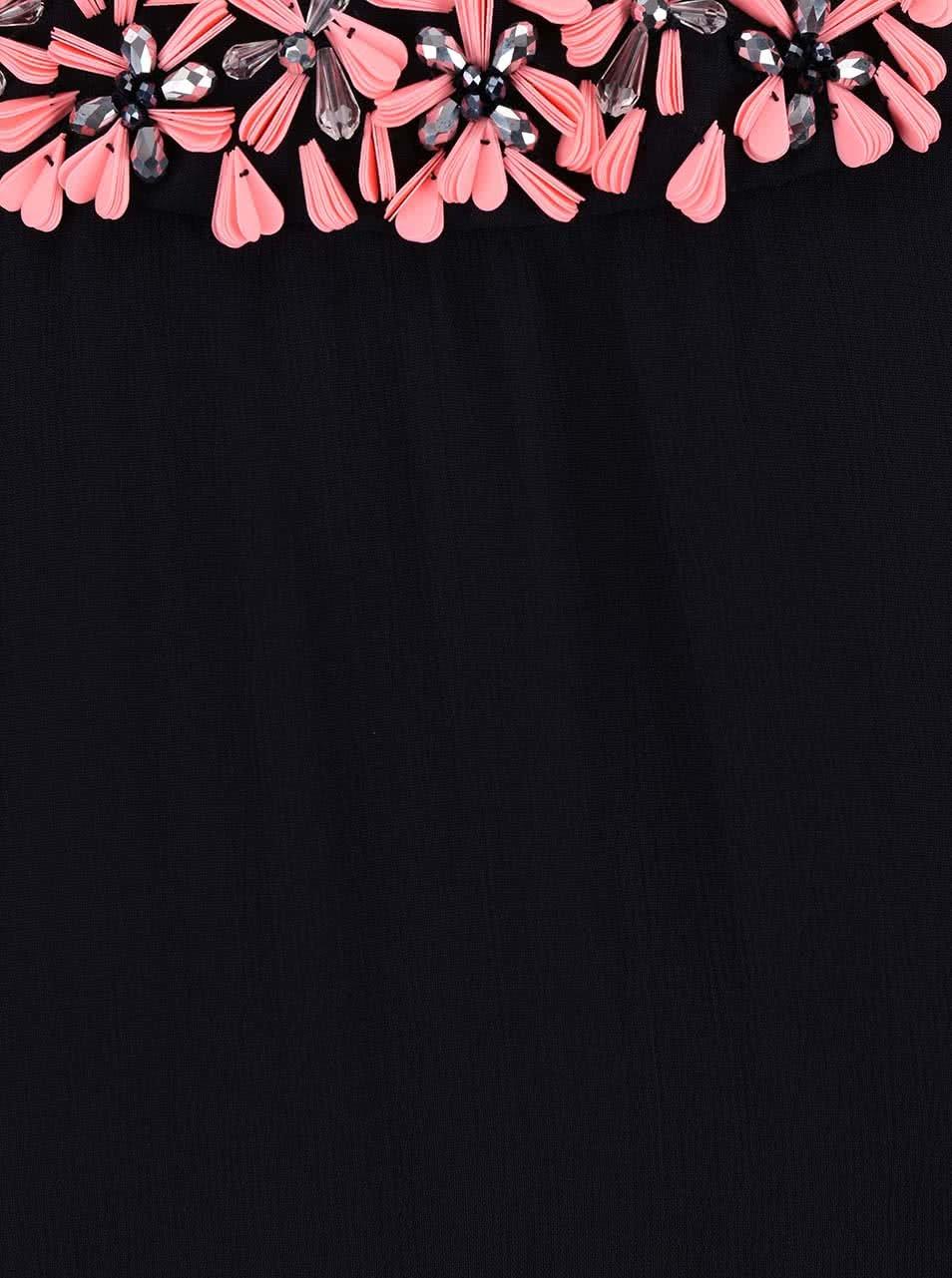 f36a0c4422d2 Modré šaty s kvetinovou aplikáciou French Connection Samba ...