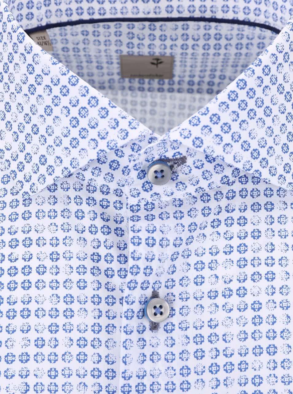 02d0670e6186 Modro-biela vzorovaná košeľa Seidensticker Shark Slim Fit ...