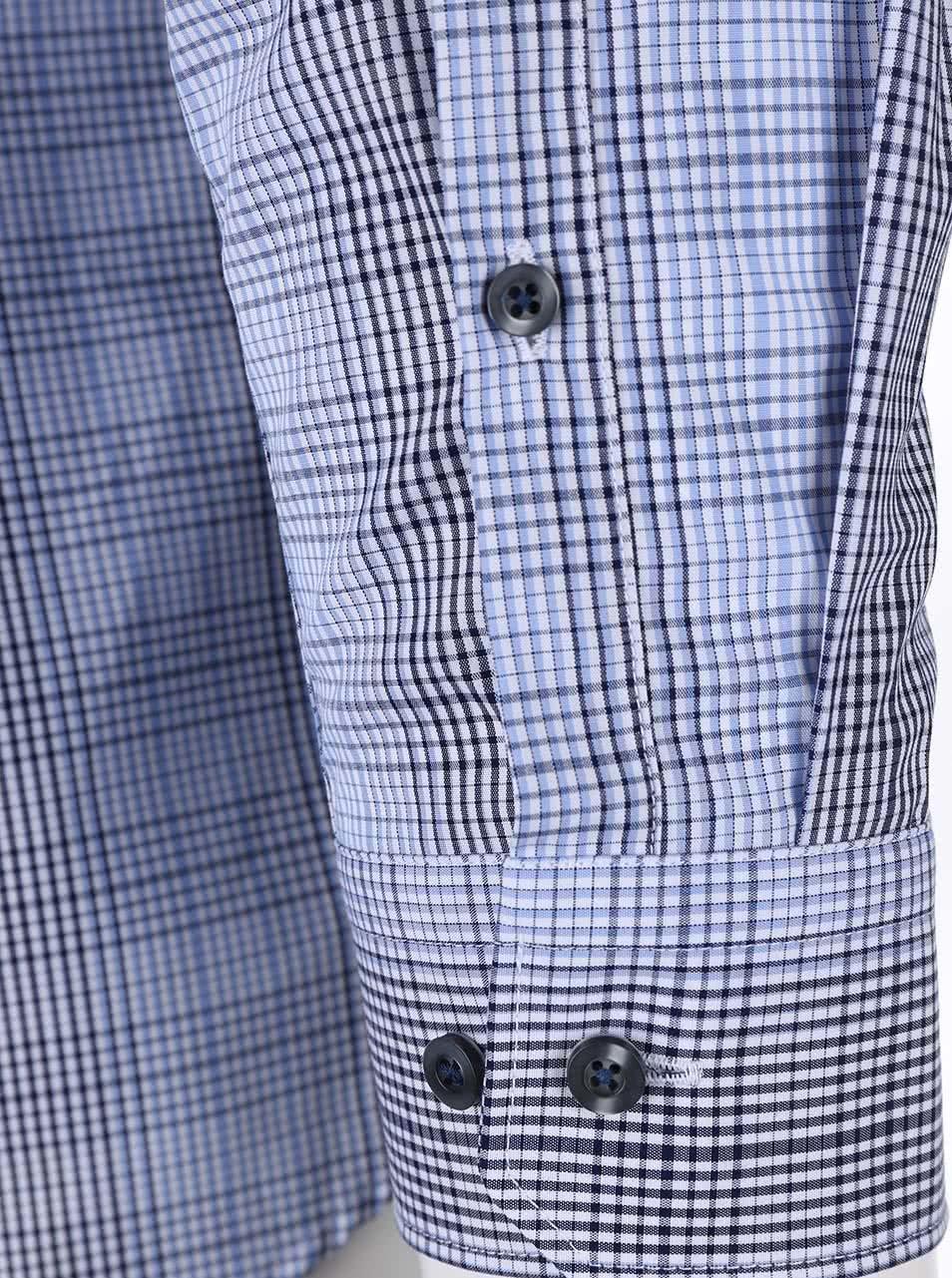 4a8176af3db3 Modrá károvaná košeľa Seidensticker Modern Kent Tape Slim Fit ...