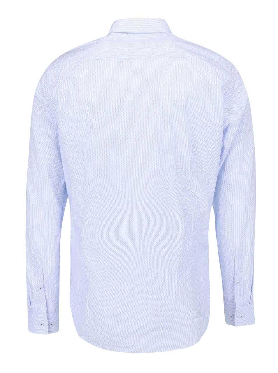 0d92da229863 Modro-biela bodkovaná košeľa Seidensticker Kent Uno Super Slim ...