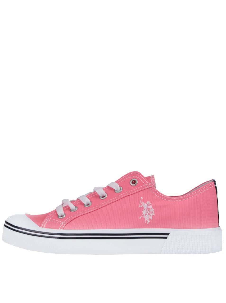 Neonově růžové dámské tenisky U.S. Polo Assn. Norw Fluo ... 83a2c10008