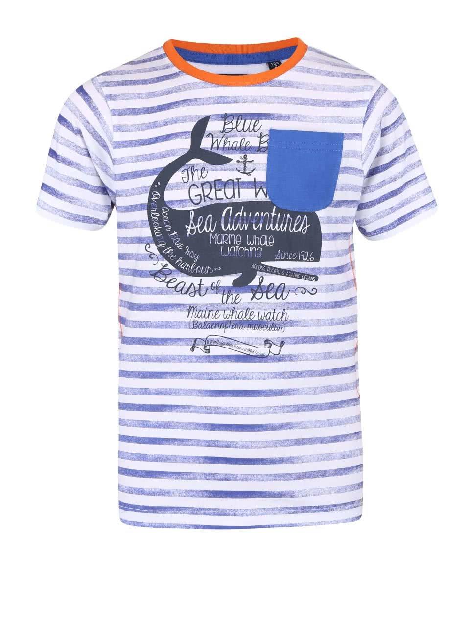 386bff2a6abf Bielo-modré detské tričko s potlačou veľryby Blue Seven ...