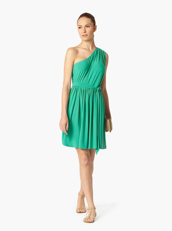 1f39f37ab41a Zelené šaty na jedno rameno Lavand ...