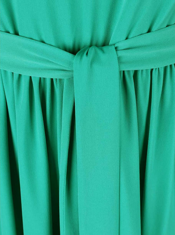 Zelené šaty na jedno rameno Lavand