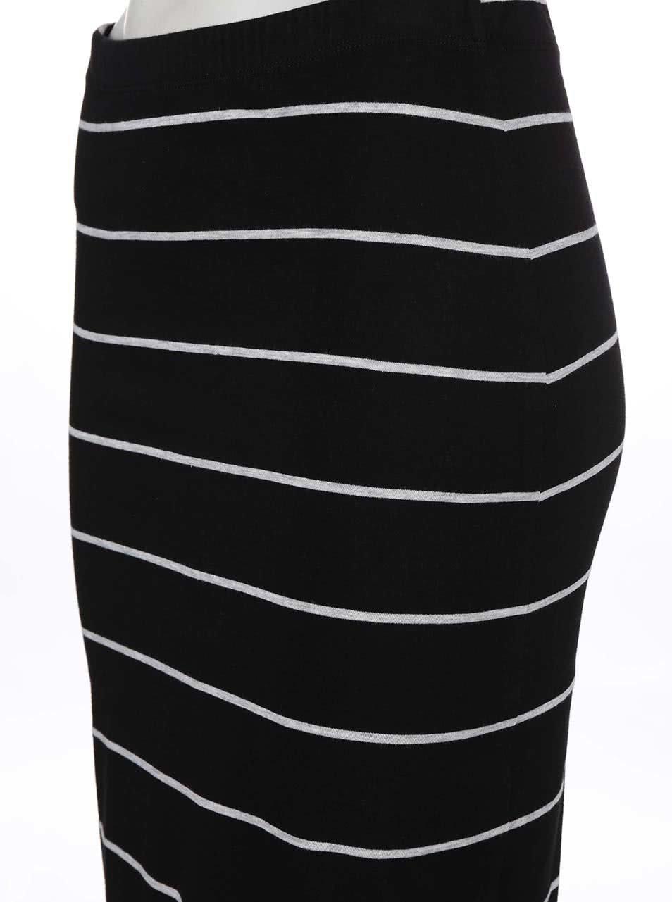 Černá pruhovaná sukně Only Abbie