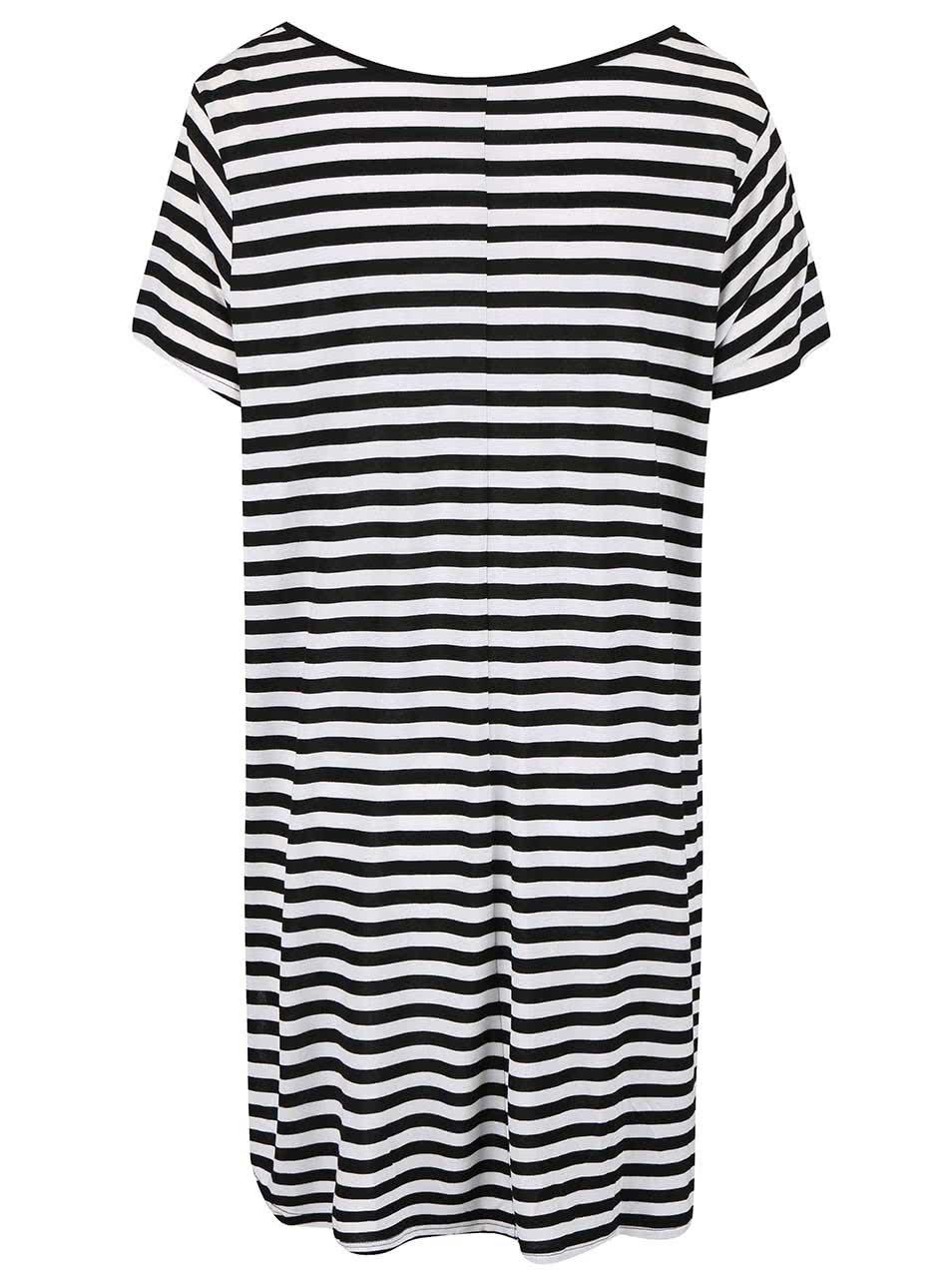 Černé pruhované delší tričko Dorothy Perkins Curve ... 3362246127